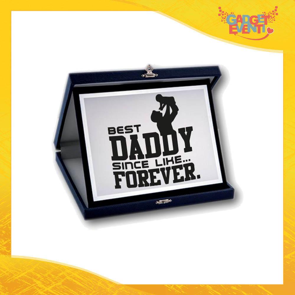 """Targa Decorativa """"Best Daddy Forever"""" Idea Regalo Festa del Papà Gadget Eventi"""
