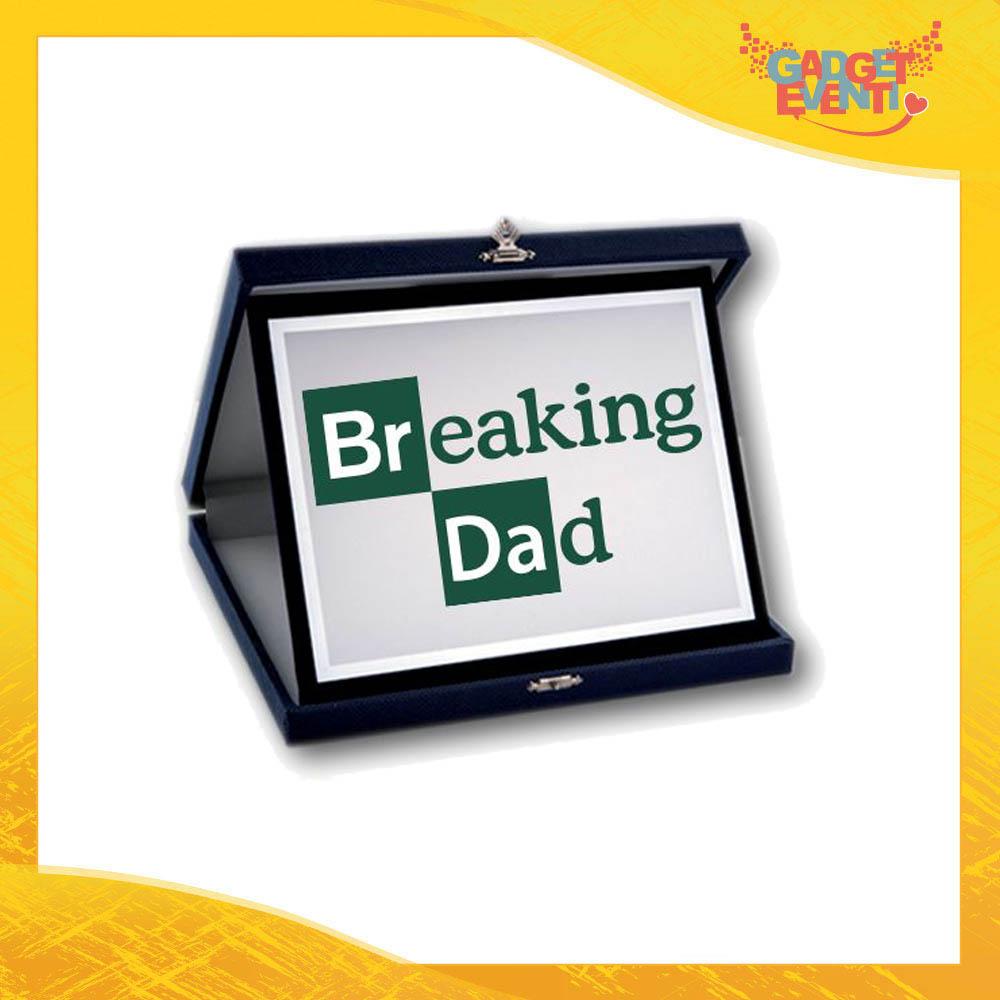 """Targa Decorativa """"Breaking Dad"""" Idea Regalo Festa del Papà Gadget Eventi"""
