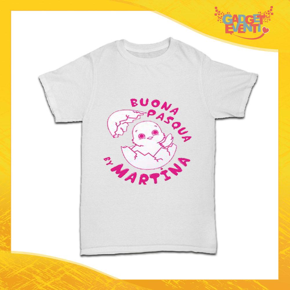 """T-Shirt Bimbo Femminuccia """"Buona Pasqua Pulcino"""" Regalo Pasquale Pasqua Gadget Eventi"""
