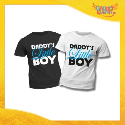 "T-Shirt Bimbo Maschietto ""Daddy's Little Boy"" Idea Regalo Bambino Festa del Papà Gadget Eventi"