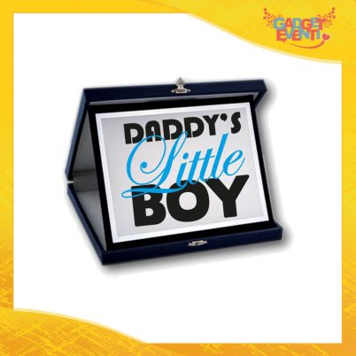 """Targa Decorativa Maschietto """"Daddy's Little Boy"""" Idea Regalo Festa del Papà Gadget Eventi"""