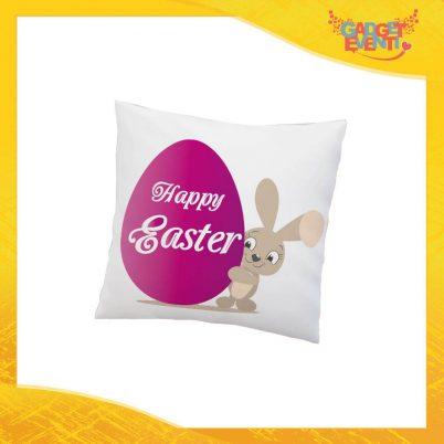 """Cuscino Quadrato Femminuccia """"Happy Easter Uovo"""" Idea Regalo Pasquale Pasqua Gadget Eventi"""