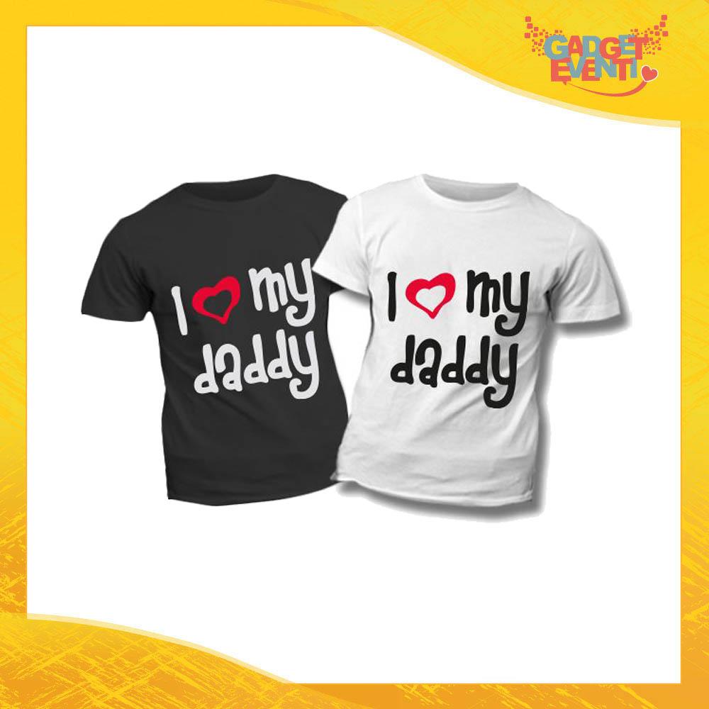 """T-Shirt Bimbo """"Love My Daddy"""" Idea Regalo Bambino Festa del Papà Gadget Eventi"""
