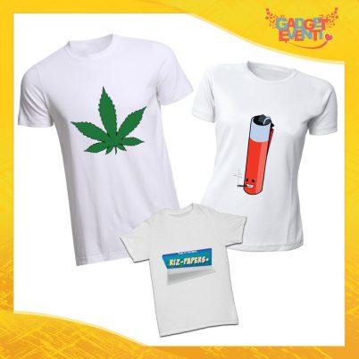 """Tris di T-Shirt Maschietto Bianco """"Mary Lighter Papers"""" Maglie Magliette Papà Mamma e Figli Gadget Eventi"""