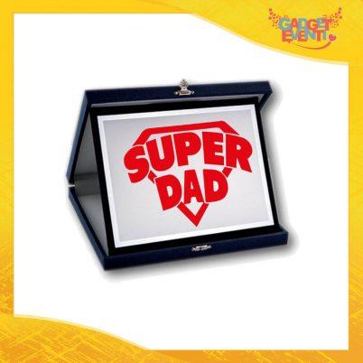 """Targa Decorativa """"Super Dad"""" Idea Regalo Festa del Papà Gadget Eventi"""