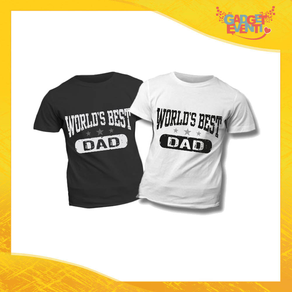 "T-Shirt Bimbo ""World's Best Dad"" Idea Regalo Bambino Festa del Papà Gadget Eventi"