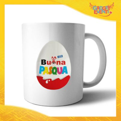 """Tazza per la Colazione """"Buona Pasqua Ovetto"""" Mug Idea Regalo Pasquale Pasqua Gadget Eventi"""