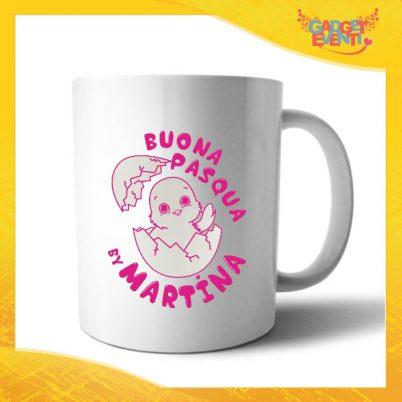 """Tazza per la Colazione Femminuccia """"Buona Pasqua Pulcino"""" Mug Idea Regalo Pasquale Pasqua Gadget Eventi"""