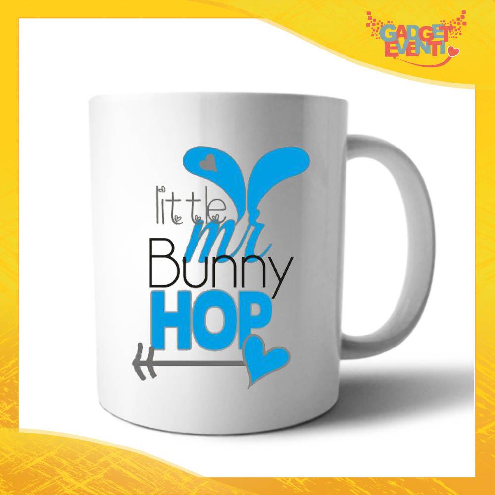 """Tazza per la Colazione Maschietto """"Little Bunny Hop"""" Mug Idea Regalo Pasquale Pasqua Gadget Eventi"""