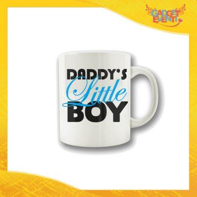"""Tazza Maschietto """"Daddy's Little Boy"""" Colazione Breakfast Mug Idea Regalo Festa del Papà Gadget Eventi"""