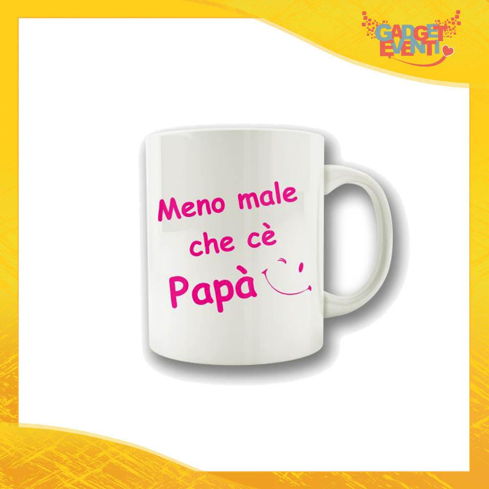 """Tazza Femminuccia """"Meno male che c'è Papà"""" Colazione Breakfast Mug Idea Regalo Festa del Papà Gadget Eventi"""