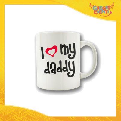 """Tazza """"Love My Daddy"""" Colazione Breakfast Mug Idea Regalo Festa del Papà Gadget Eventi"""