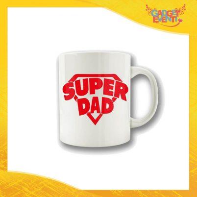 """Tazza """"Super Dad"""" Colazione Breakfast Mug Idea Regalo Festa del Papà Gadget Eventi"""