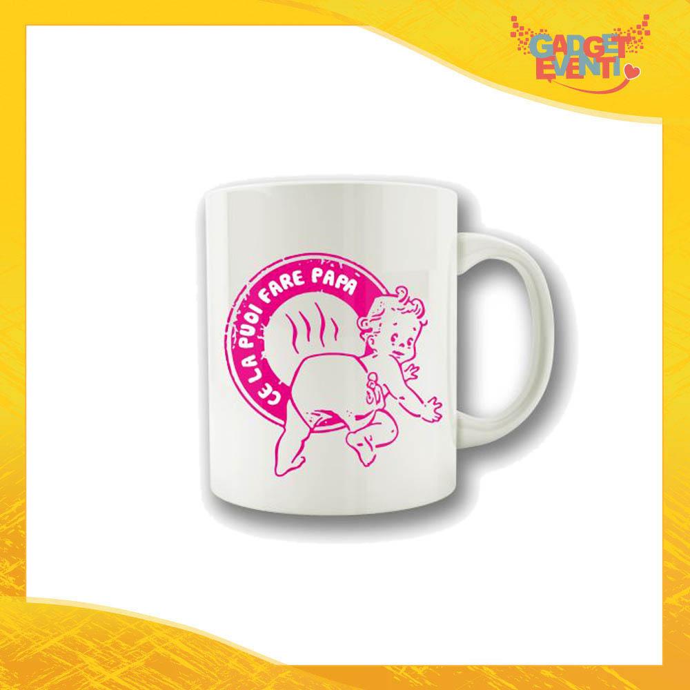 """Tazza Femminuccia """"Ce la puoi fare Papà"""" Colazione Breakfast Mug Idea Regalo Festa del Papà Gadget Eventi"""