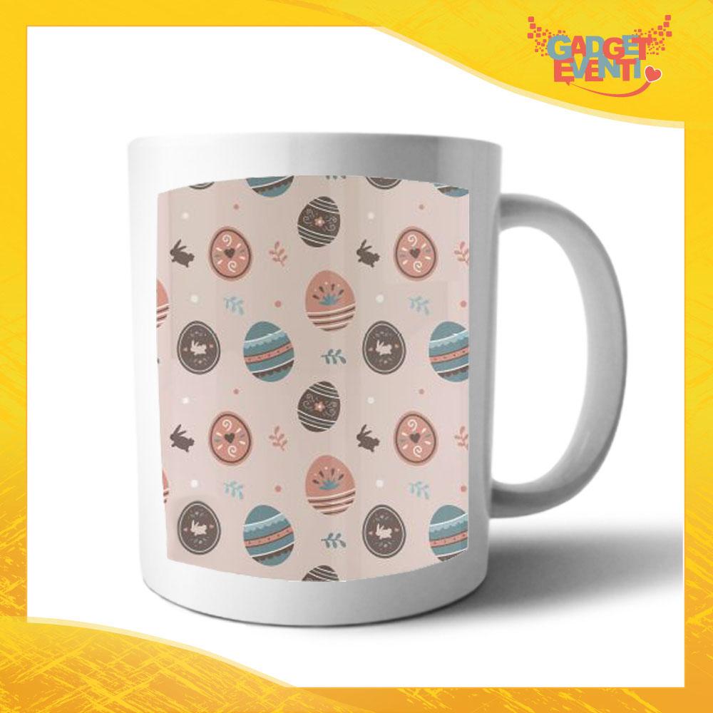 """Tazza per la Colazione """"Uova Decorate"""" Mug Idea Regalo Pasquale Pasqua Gadget Eventi"""