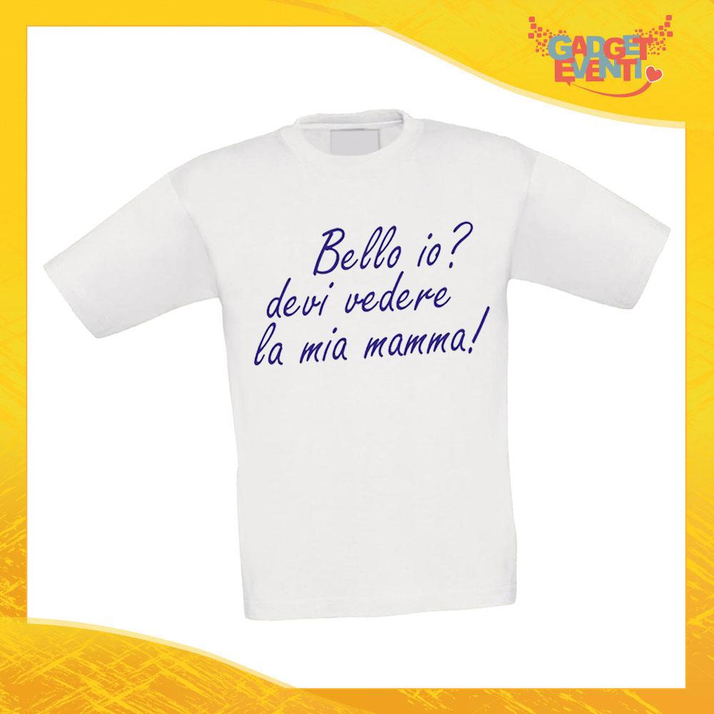"""Maglietta Bambino Bambina """"Bello Bella io"""" Idea Regalo T-shirt Festa della Mamma Gadget Eventi"""