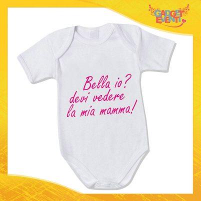 """Bodino Femminuccia """"Bello Bella Io"""" body bimbo Idea Regalo Festa della Mamma Gadget Eventi"""