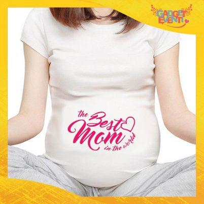"""T-shirt Premaman """"Best Mom"""" idea regalo festa della mamma gadget eventi"""