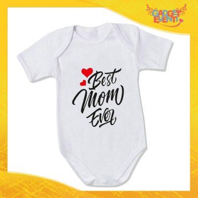 """Bodino Neonato """"Best Mom Ever"""" Body Idea Regalo Festa della Mamma Gadget Eventi"""