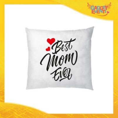 """Cuscino Quadrato """"Best Mom Ever"""" Idea Regalo Festa della Mamma Gadget Eventi"""