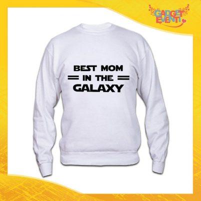 """Felpa Bianca """"Best Mom Galaxy"""" Idea Regalo Festa della Mamma Gadget Eventi"""
