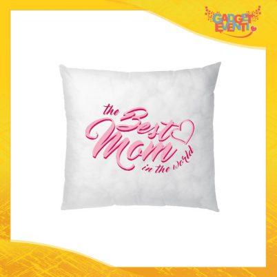 """Cuscino Quadrato """"Best Mom World"""" Idea Regalo Festa della Mamma Gadget Eventi"""