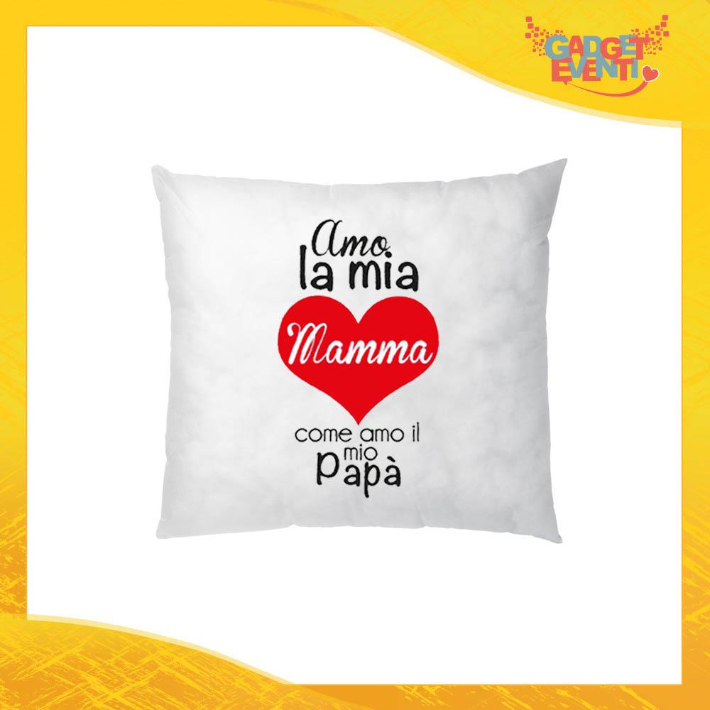 """Cuscino Quadrato """"Come Amo il mio Papà"""" Idea Regalo Festa della Mamma Gadget Eventi"""