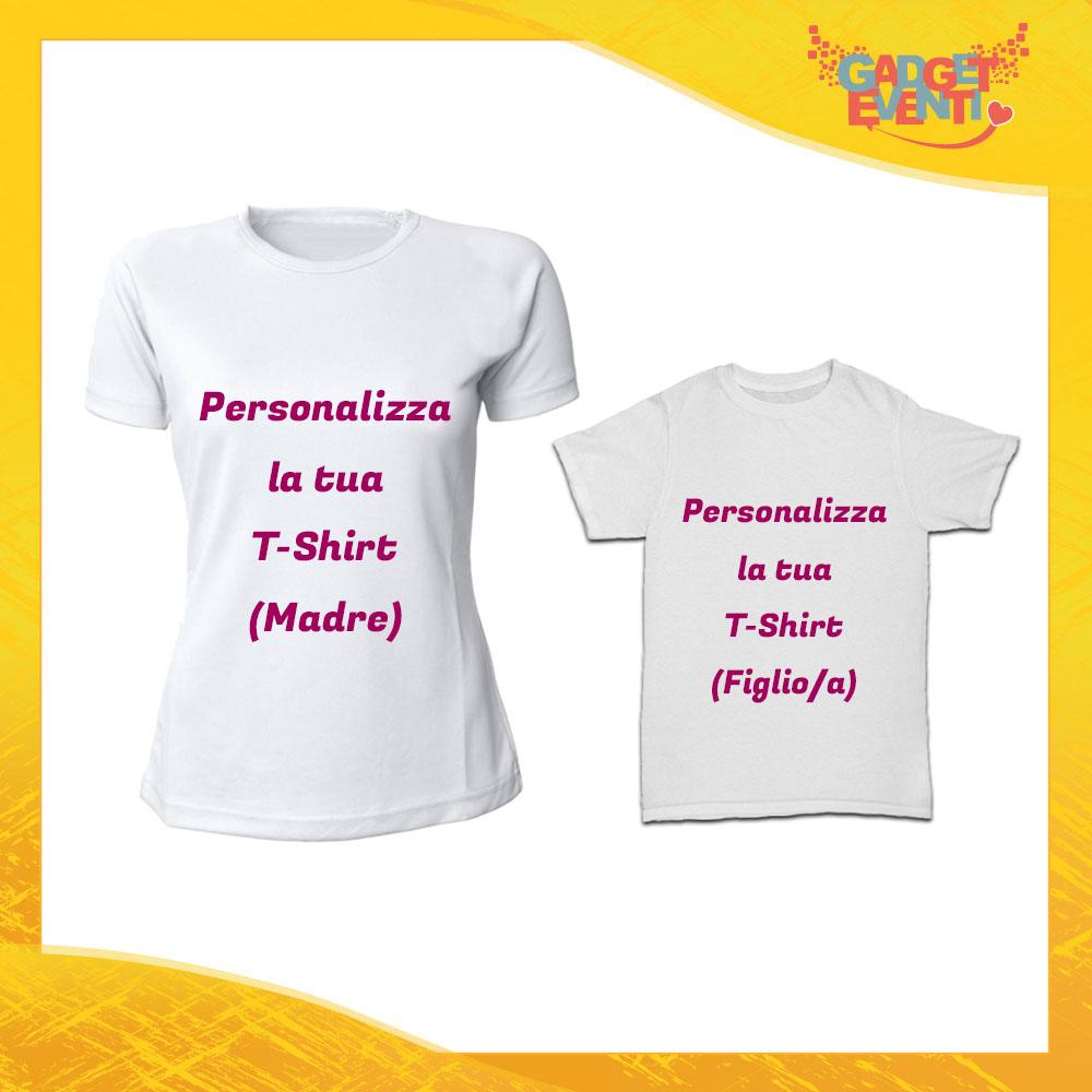 Personalizza la tua Coppia di T-Shirt Magliette Madre Figlio Idea Regalo Festa della Mamma Gadget Eventi