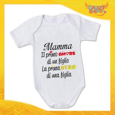 """Bodino Neonato """"La Prima Star"""" Body Idea Regalo Festa della Mamma Gadget Eventi"""