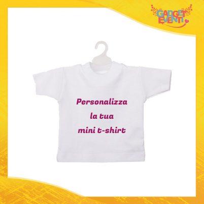 Personalizza la tua Mini T-Shirt Bianca Auto Bimbo a Bordo Gadget Eventi