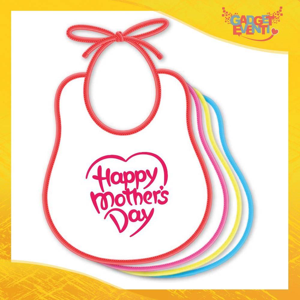 """Bavetto Femminuccia """"Mother's Day"""" Bavaglino Idea Regalo Festa della Mamma Gadget Eventi"""