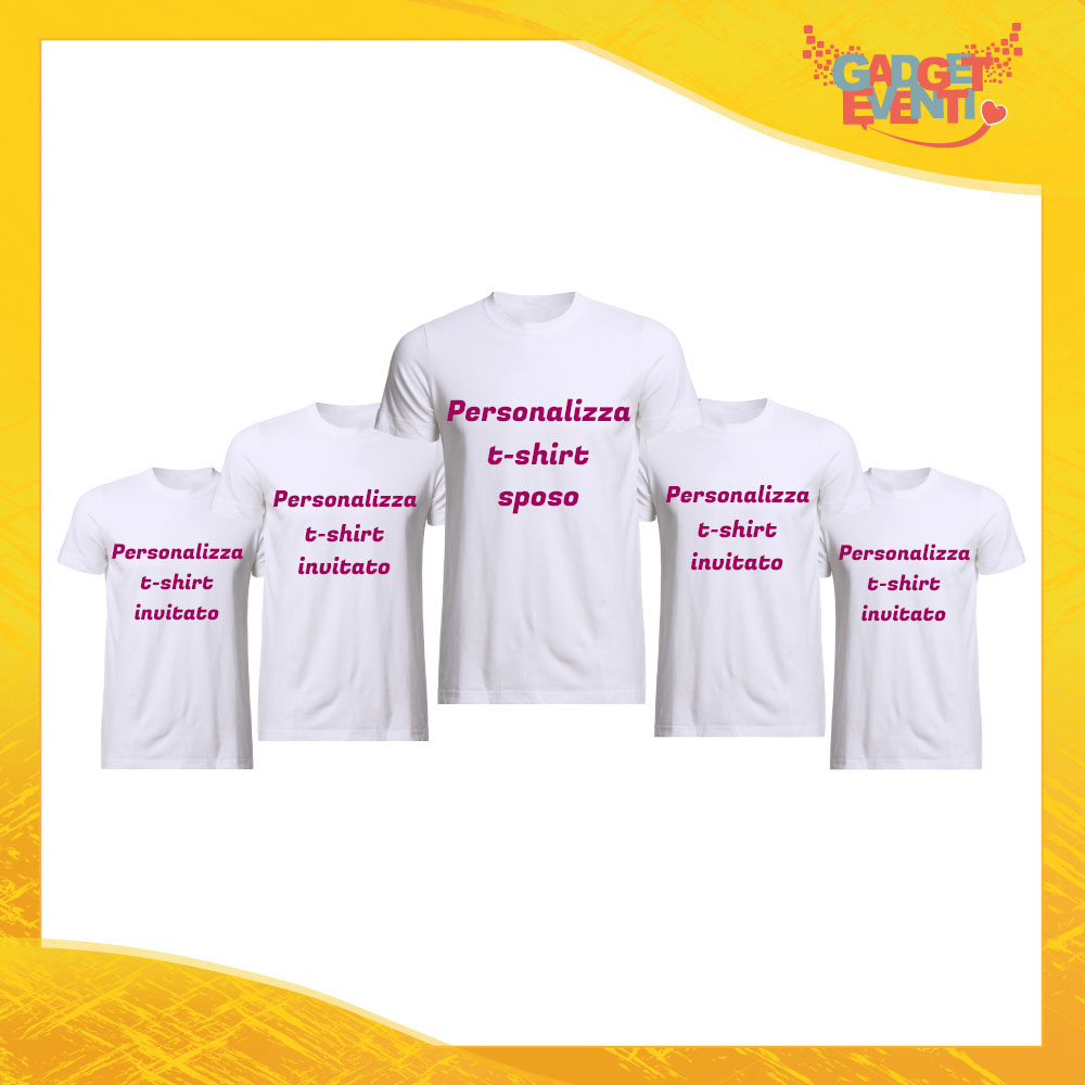 on sale 50b03 8a35b Pacchetto Magliette Personalizzate Addio al Celibato