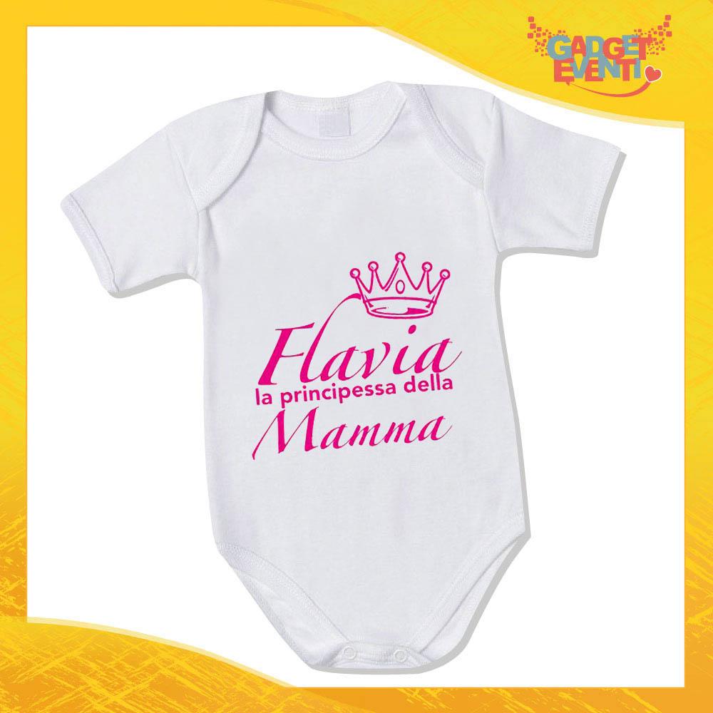 """Bodino Femminuccia """"Principe Principessa di Mamma"""" body bimbo Idea Regalo Festa della Mamma Gadget Eventi"""