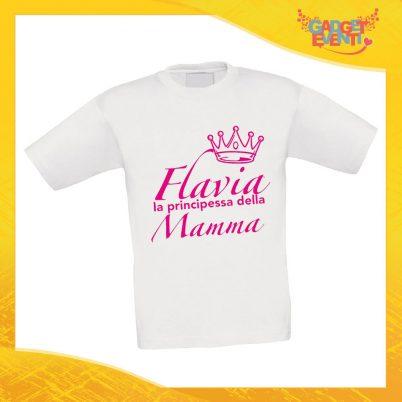 """Maglietta Bambino Bambina """"Principe Principessa di Mamma"""" Idea Regalo T-shirt Festa della Mamma Gadget Eventi"""