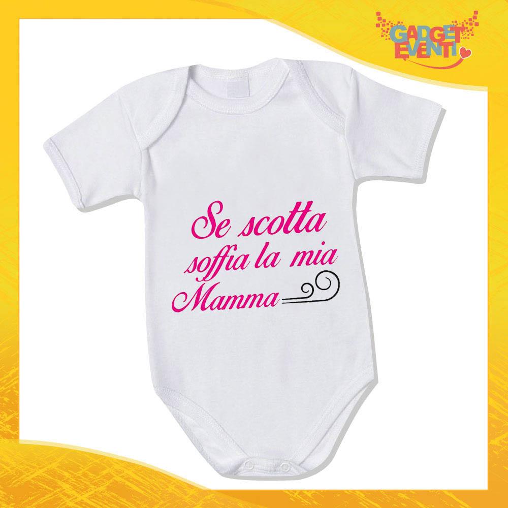 """Bodino Femminuccia """"Se scotta"""" body bimbo Idea Regalo Festa della Mamma Gadget Eventi"""