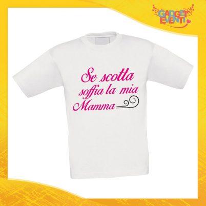 """Maglietta Bambino Bambina """"Se scotta"""" Idea Regalo T-shirt Festa della Mamma Gadget Eventi"""