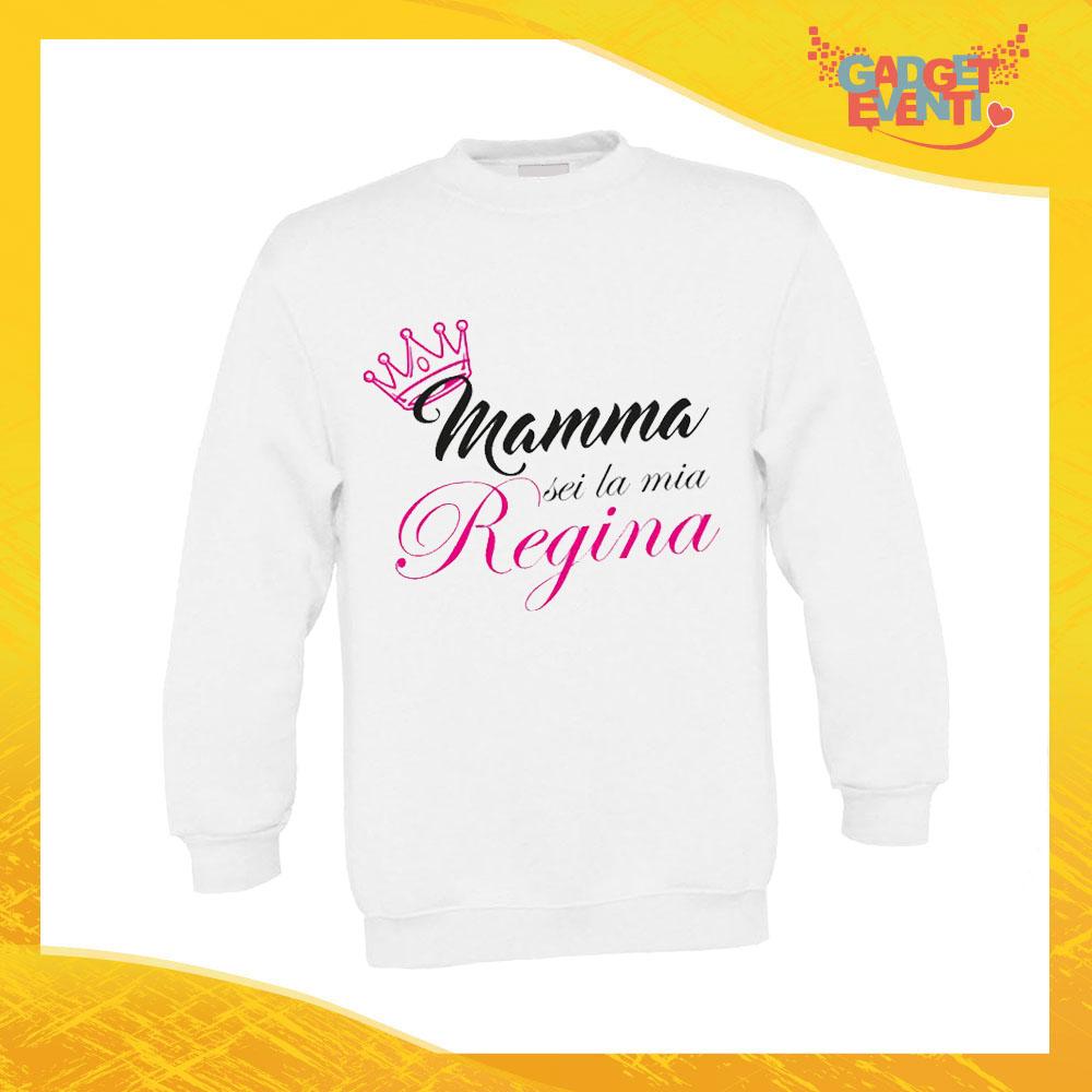 """Felpa Bimbo Femminuccia """"Sei la mia Regina"""" Bambino Bambina Bimbi Idea Regalo Festa della Mamma Gadget Eventi"""