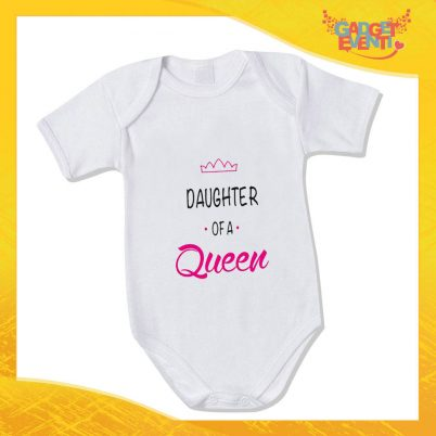 """Bodino Femminuccia """"Son Daughter Queen"""" body bimbo Idea Regalo Festa della Mamma Gadget Eventi"""