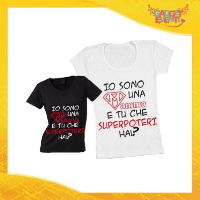 """Maglietta, t-shirt idea regalo festa della mamma """"Superpoteri"""" - Gadget Eventi"""