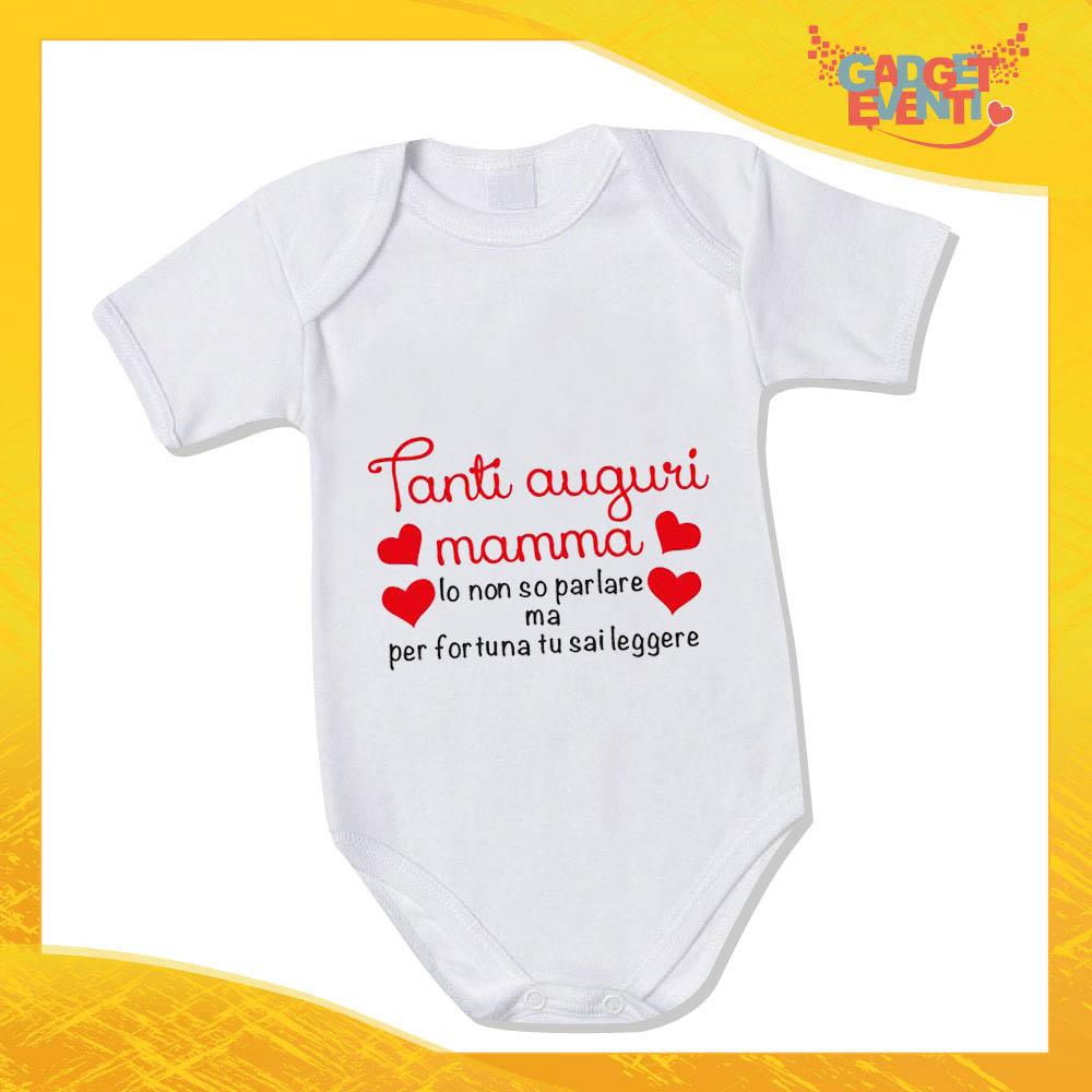 Regali teneri per la Mamma Body Neonato Manica Corta Candyshop Buon Compleanno Mamma