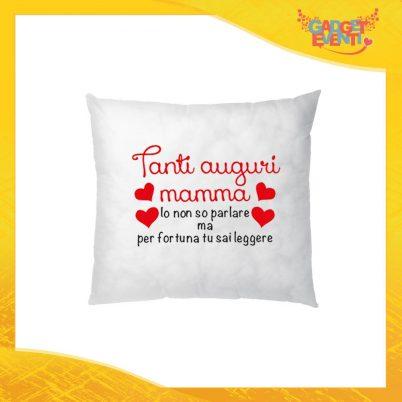 """Cuscino Quadrato """"Tanti Auguri"""" Idea Regalo Festa della Mamma Gadget Eventi"""