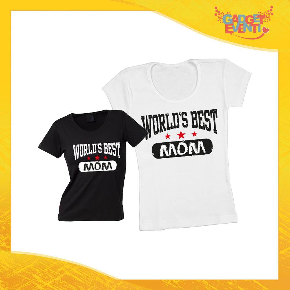 """Maglietta, t-shirt idea regalo festa della mamma """"World's Best Mom"""" - Gadget Eventi"""