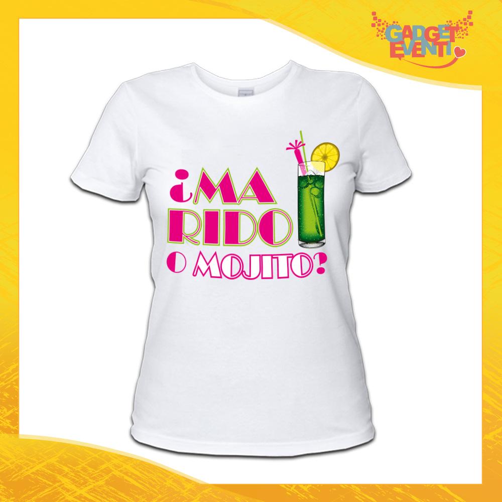 """maglietta bianca addio al nubilato """"Marido o Mojito"""" - Gadget Eventi"""