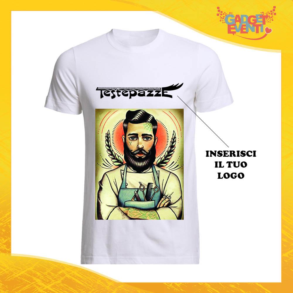 "T-Shirt Maglietta Bianca per ""Parrucchieri"" Mestiere Lavoro Gadget Eventi"