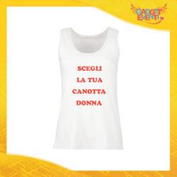 Scegli la tua Canotta Donna e personalizzala con Nome Foto Testo Frasi Gadget Eventi