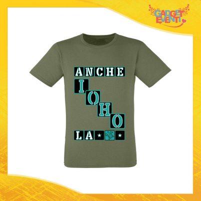 """T-Shirt Uomo Verde Oliva """"Anche io ho la Tartaruga"""" Maglia Maglietta per l'estate Grafiche Divertenti Gadget Eventi"""