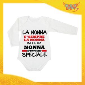 """Body Manica Lunga Neonato Bodino Bimbo Personalizzato """"Nonna è Speciale"""" Idea Regalo Festa dei Nonni Gadget Eventi"""