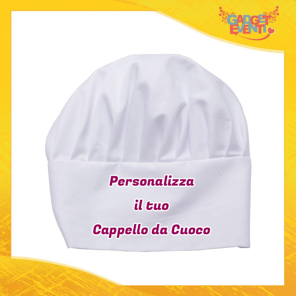 Cappello da Cuoco Bianco Personalizzato con Frasi testi immagini e foto articoli per cucina e ristorazione chef Gadget Eventi