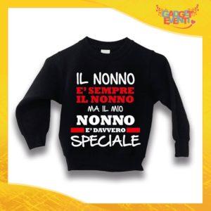 """Felpa Nera Bimbo """"Nonno è Speciale"""" Idea Regalo Maglione per l'inverno Festa dei Nonni Gadget Eventi"""