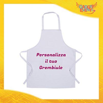 Grembiule da Cucina Bianco Personalizzato con testo frasi foto e immagini Apron settore ristorazione alimentare Gadget Eventi